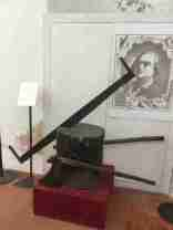 Torture implements in the Fortress of San Leo - executioners' axes and saw