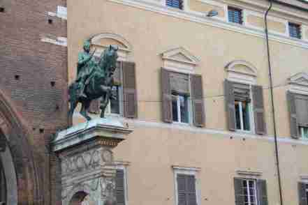 Statue of Niccolò III d'Este outside the Palazzo Municipale of Ferrara