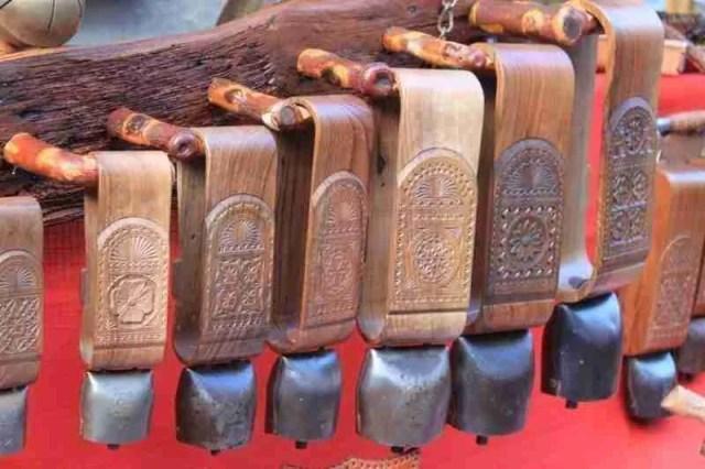 Wooden handicrafts at the Fiera di Sant'Orso in Aosta