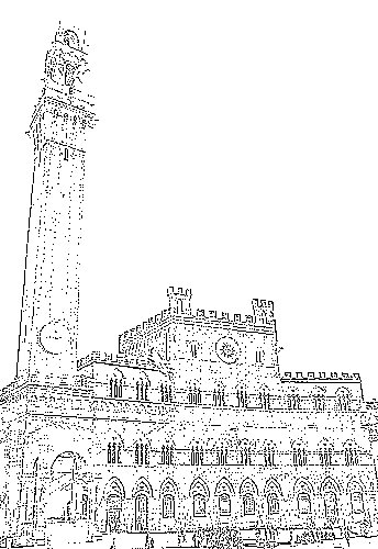 City Hall For Coloring Coloring Pages