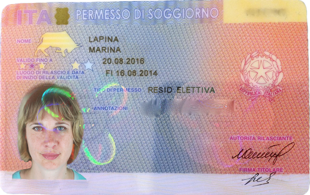 THE RESIDENCE PERMIT OF ITALY  5 Stars Europe