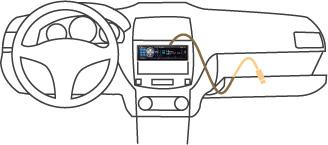 SINTO LETTORE CD/MP3/WMA/AAC/USB con controllo diretto