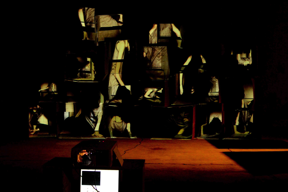 Martin Romeo_Built in_interactive videoinstallation_2011_photography by Carlo Ottaviani