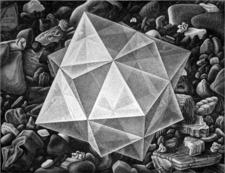 Maurits Cornelis Escher,Cristallo,1947,Collezione Federico Giudiceandrea