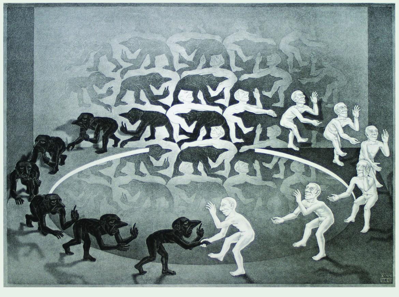 Maurits Cornelis Escher,Incontro 1944,Collezione Federico Giudiceandrea