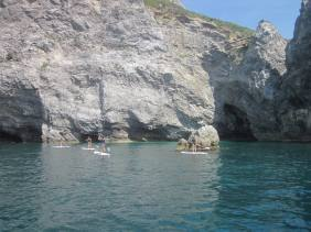 SUP Tour Amalfi Coast - Cetara to Erchie, cove only reachable by water