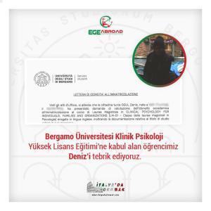 İtalya'da Psikoloji Yüksek Lisans Eğitimine Başlayan Öğrencilerimiz