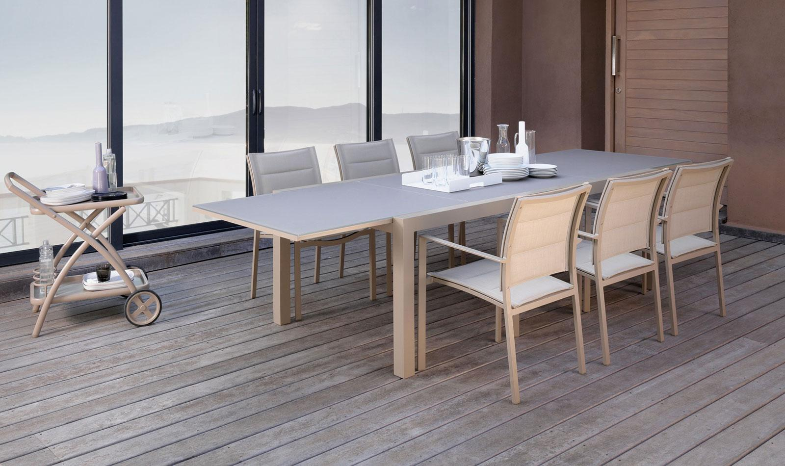 Table With Chairs Sense Outdoor Extendable Table 220 330
