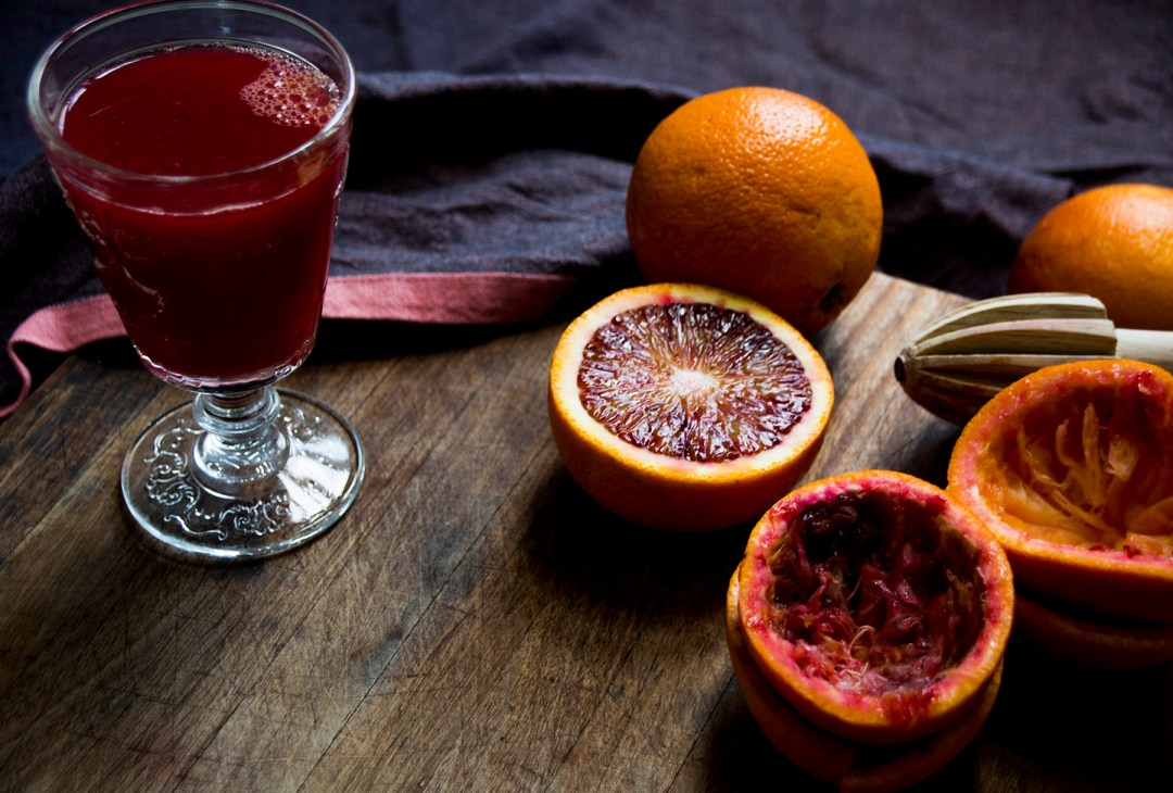 blood orange juice goblet-italy on my mind