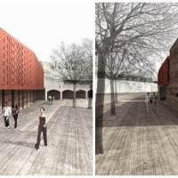 La nuova Biblioteca di Greve in travertino e cotto