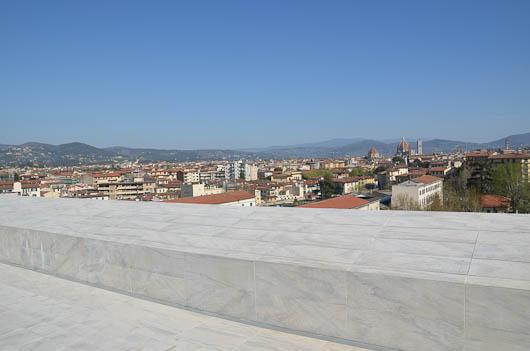 Nuovo teatro dell'opera di Firenze, Veduta dalle terrazze verso la città