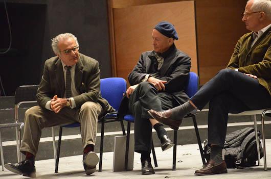 L'architetto Paolo Desideri durante l'incontro al Teatro