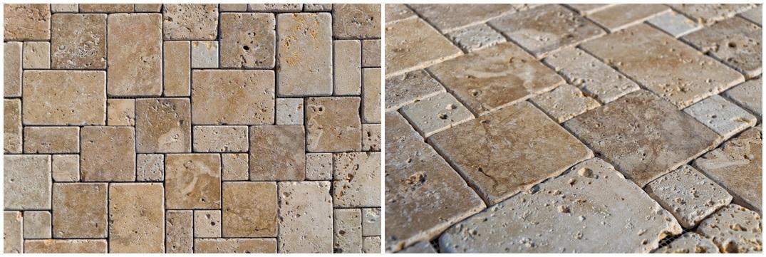 Nuovo mosaico per bagno o cucina in pietra - Mosaico pavimento bagno ...