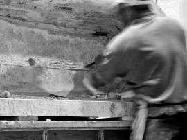 Lavorazione della pietra di rapolano