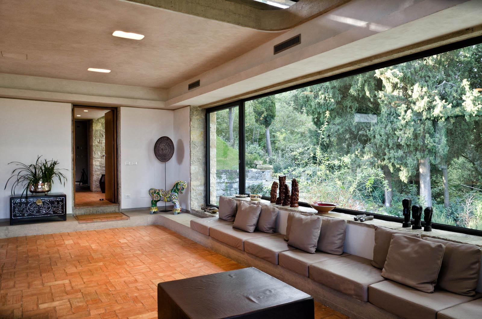 Villa waddell a fiesole for Casa moderna vetrate