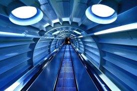Interno dell' Atomium Bruxelles