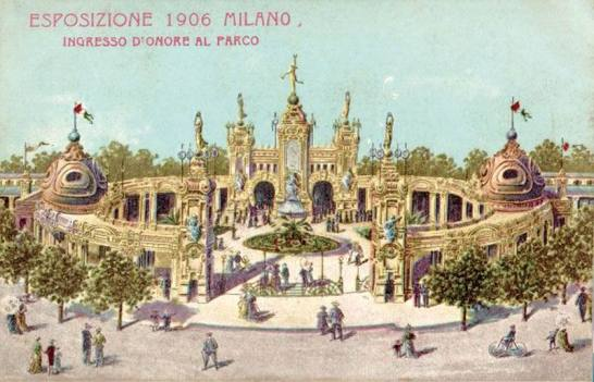 expo architettura milano 1906 entrata principale expo milan