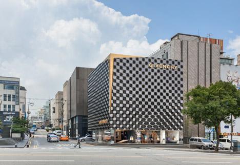architettura negozio givenchy flagship store seul