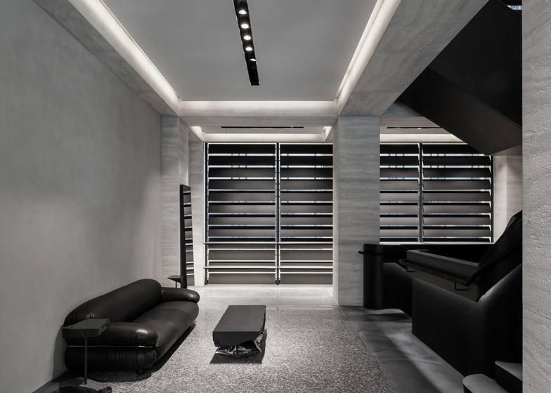 Alexander-Wang-negozio-londra-tarvertino-grigio-rivestimenti-di-lusso