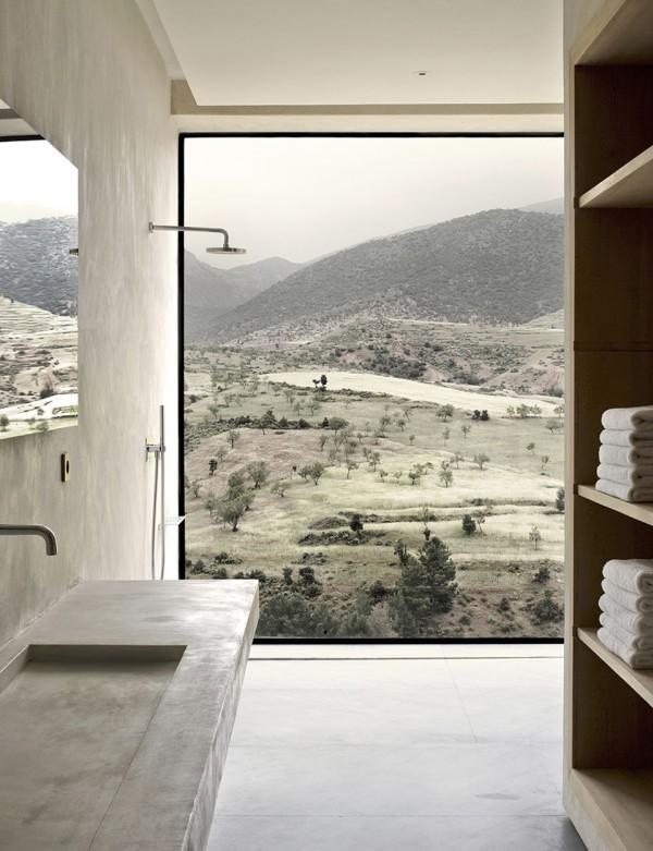 villa marocco studio KO pietra materiali naturali atmosfera parigina minimale
