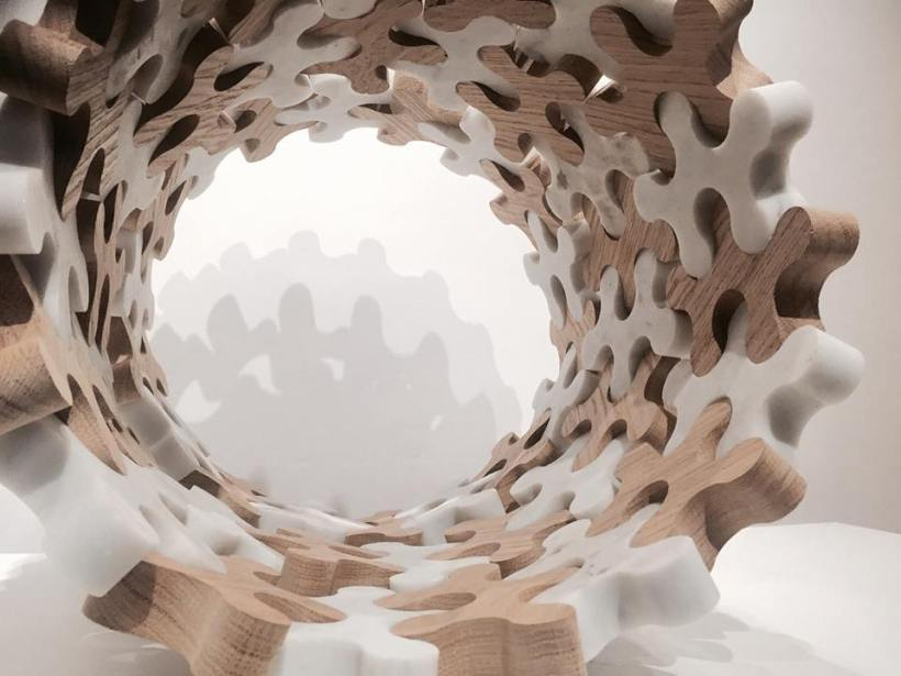 victor gingembre molecole molecule scultura marmo marble sculpture paris