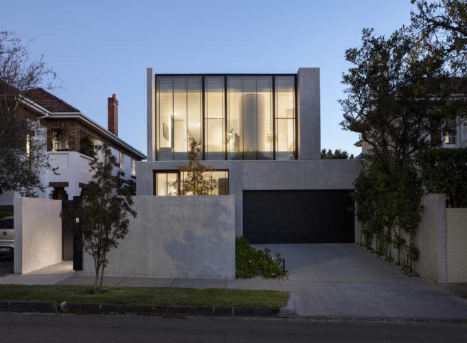 davidov architettura melbourne residenza privata travertino
