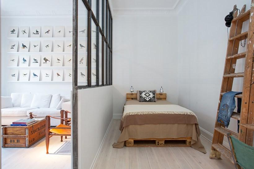 stoccolma interni camera da letto soggiorno parquet
