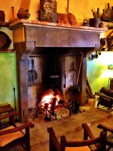 The hearth in the great room, greeted us on our arrival for a long, leisurely Sunday lunch.