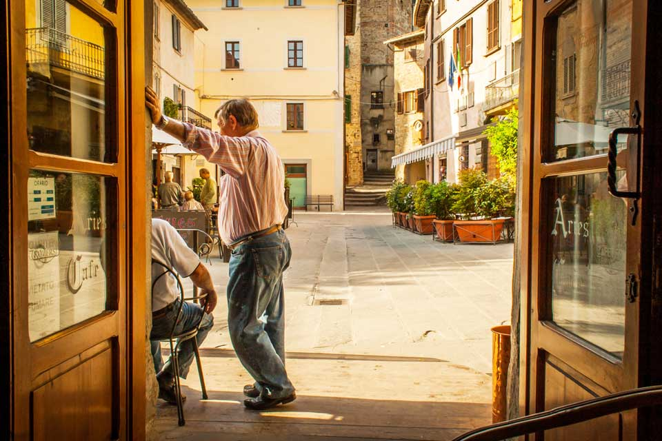 Italians value slowing downs and enjoying the moment.