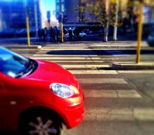 Beware of blithely stepping into an Italian pedestrian crossing...you might be courting disaster.
