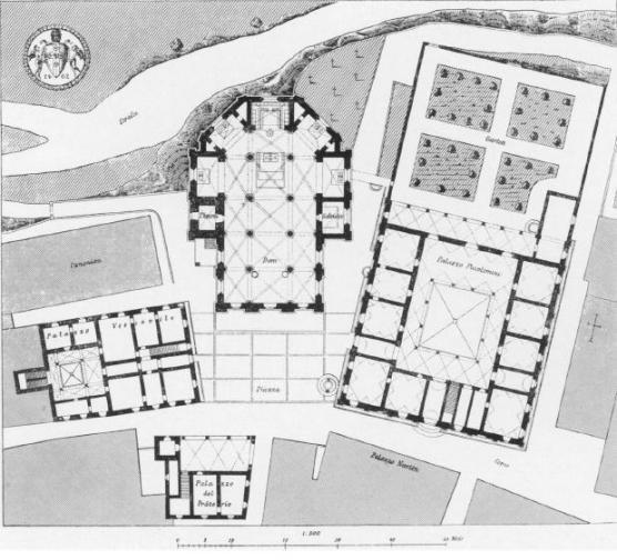 Pienza, Mappa di Piazza Pio II