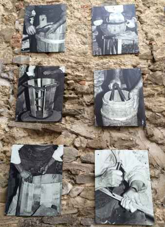 Immagini storiche dell'arte di lavorare il legno a Moggiona