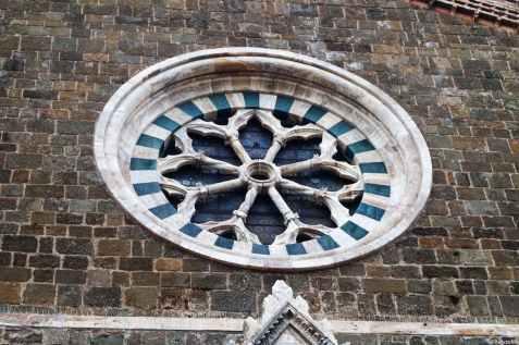 Rosone della chiesa di Sant'Agostino a Montalcino