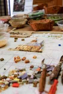 Laboratorio artigiano di mosaico in via dell'Opio nel Corso, Montepulciano