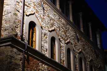 "La facciata del rinascimentale Palazzo Dovizi di Bibbiena, voluto dal cardinale Bernardo Dovizi detto ""il Bibbiena"""