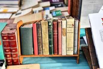 Il banco di Adelmo Brogi, altro nostro fornitore di fiducia di libri di viaggio, gastronomia e curiosità alla Fiera Antiquaria di Arezzo!