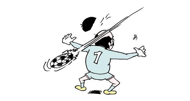 サッカーでキーパーを任されたおっさん