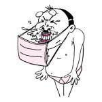 くしゃみをするおっさん(ピンク色ver)