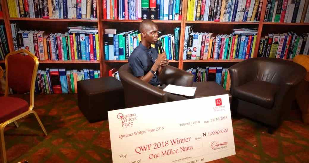 Michael Emmanuel Wins the Quramo Writer's Award 2018