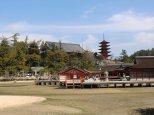 Santuario Itsukushima, dietro il Santuario Houkoku e la Pagoda