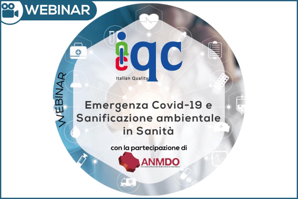 Webinar Emergenza Covid19 Sanificazione Ambientale in Sanità ANMDO