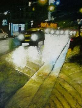 Nuit blanche à Clichy - Huile sur toile - 116 x 89 cm