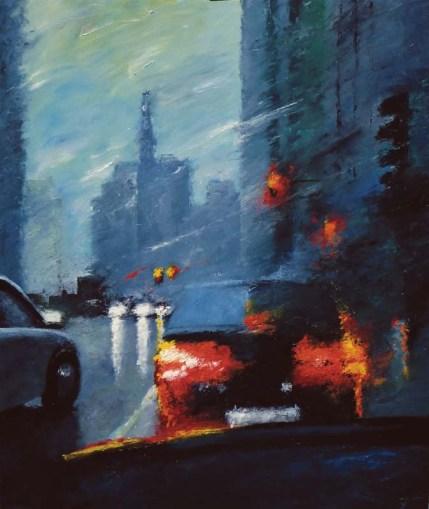 Sans discontinuer - Huile sur toile - 120 x 100 cm