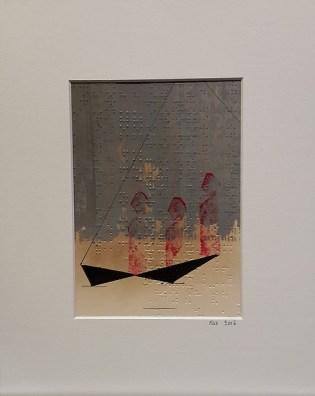 acrylique et encre sur papier braille 24x30