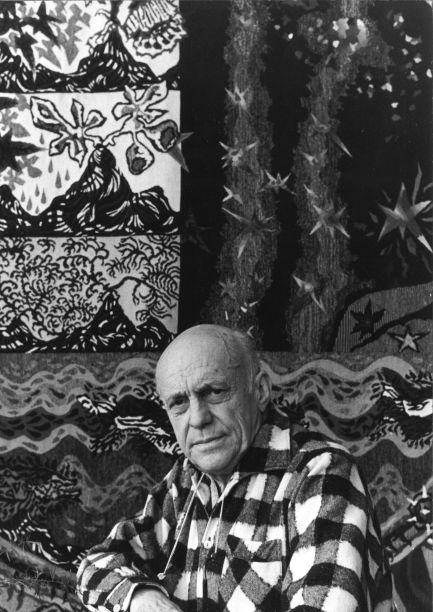 Jean Lurçat á la villa Surat,1961-®Fondation Jean et Simone Lurçat