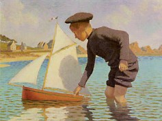 Albert Clouard, Joël au bateau, 1904 48 x 64 cm