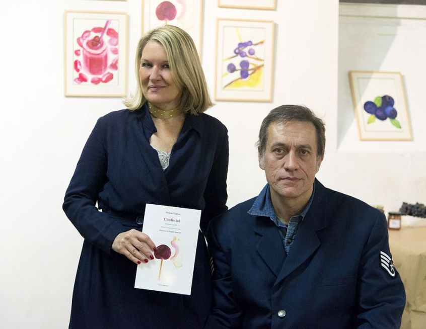 L'auteur Mylène Vignon et l'éditeur François Moacer. ©Woytek Konarzewski