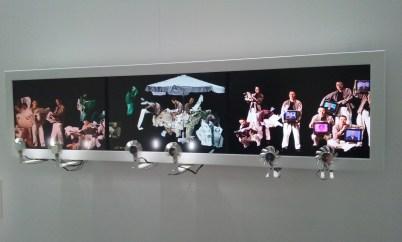 Du Zhenjun, Vent, 2003, installation vidéo interactive, 130 x 38 x 25 cm