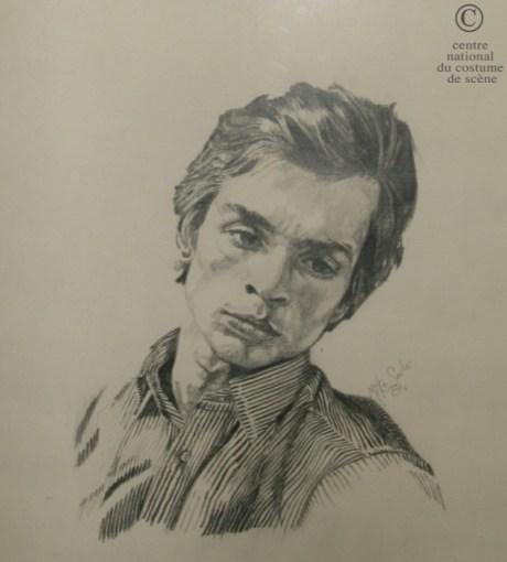 Dessin au crayon issu de l'exposition permanente de Rudolf Noureev