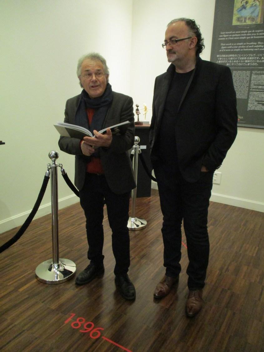 Jacques Paris (auteur des textes du catalogue) et Luc Eyriey